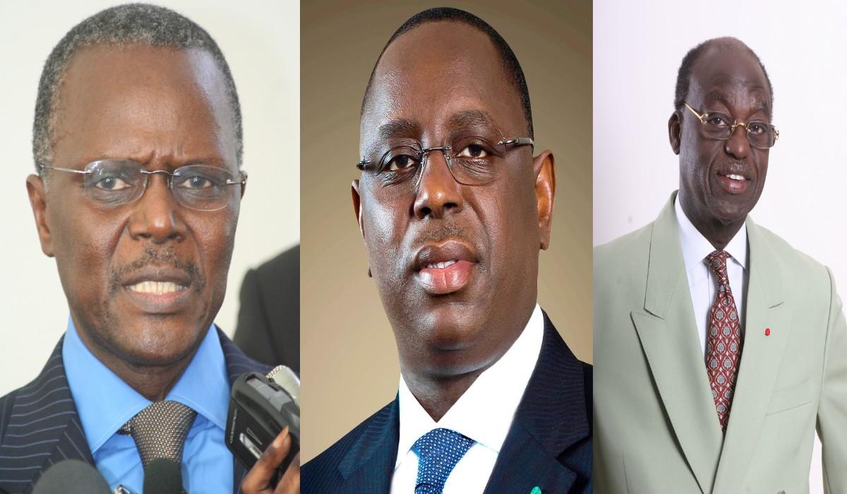 Macky Sall, Ousmane Tanor Dieng et Moustapha Niass