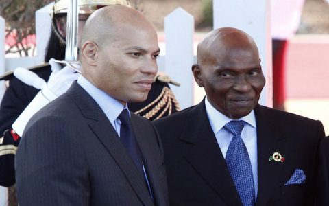 Abdoulaye Wade et Karim Wade