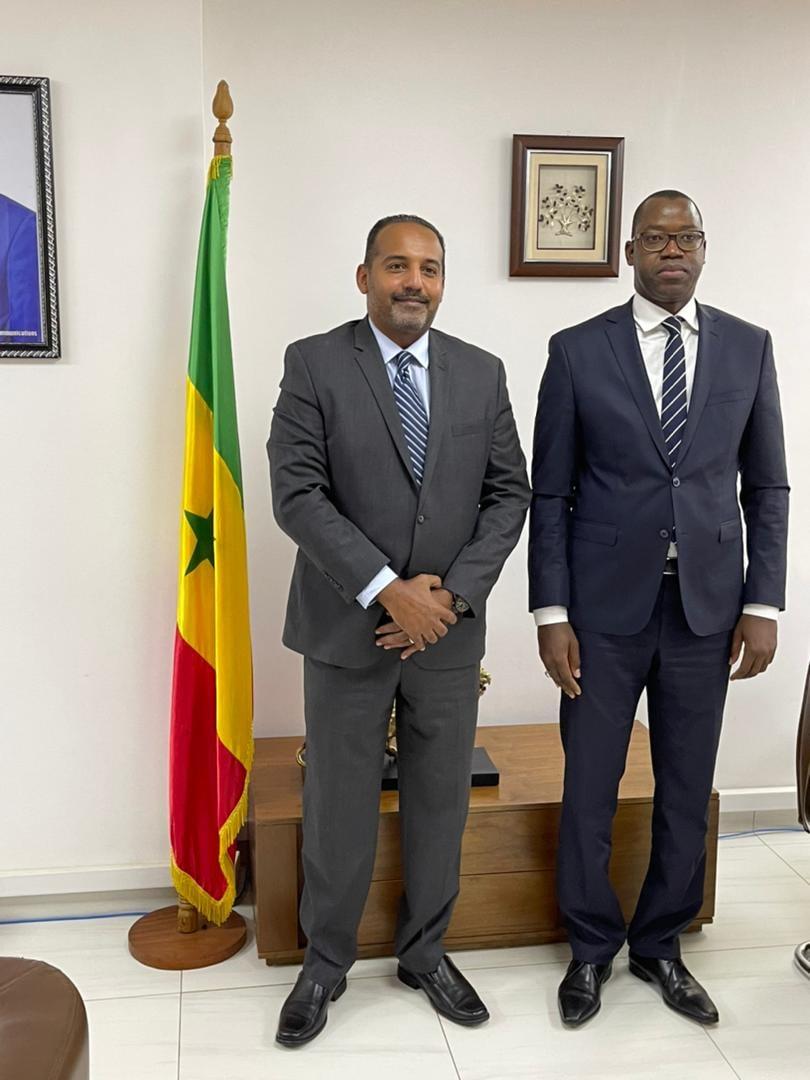 Le nouveau Directeur Général de Expresso - Hani Osman Elhassan et le Ministre de l'économie Numérique du Sénégal