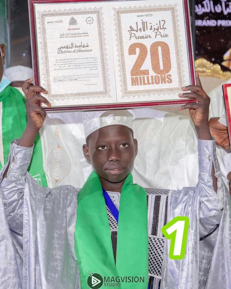 Mouhamadou Mahi Touré vainqueur concours du Coran accueilli à Kaolack