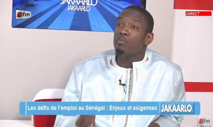Pape Djibril Fall à l'émission Jakaarlo - le chômage c'est à tous les niveaux