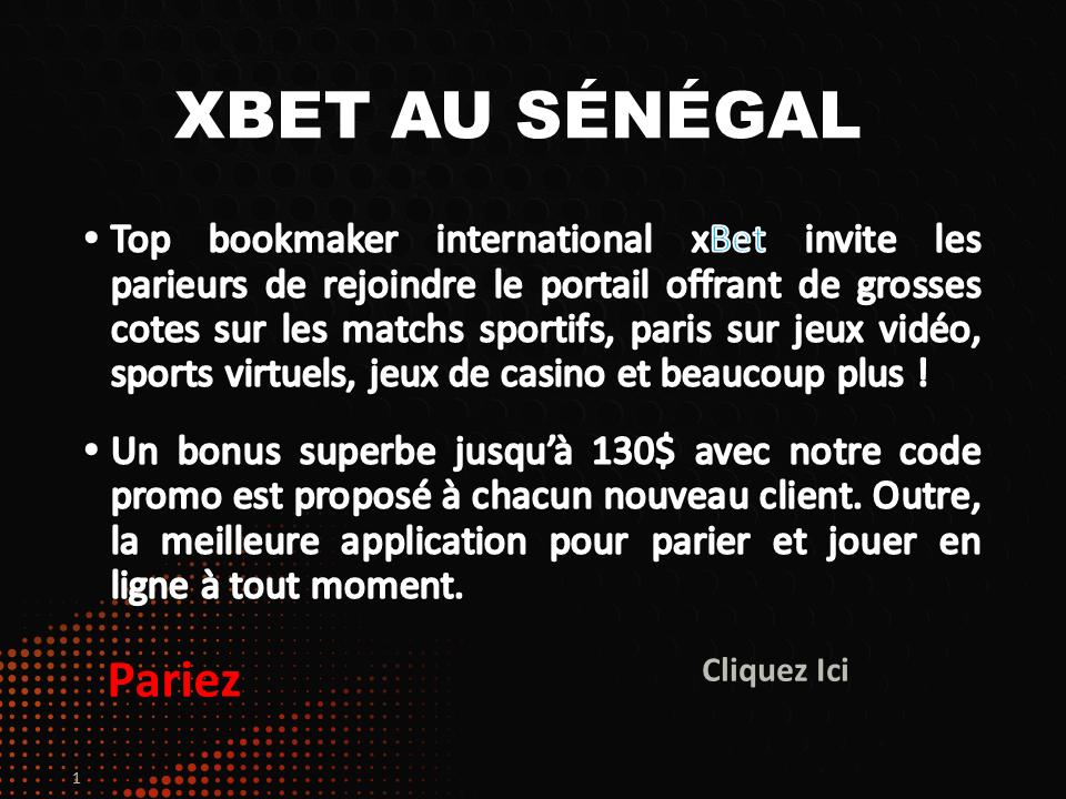 Bannière XBet Senegal, Jeux, Pari Foot au Sénégal-OK