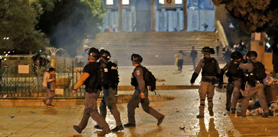 Des affrontements à Jérusalem-Est, sur l'esplanade des Mosquées - Police