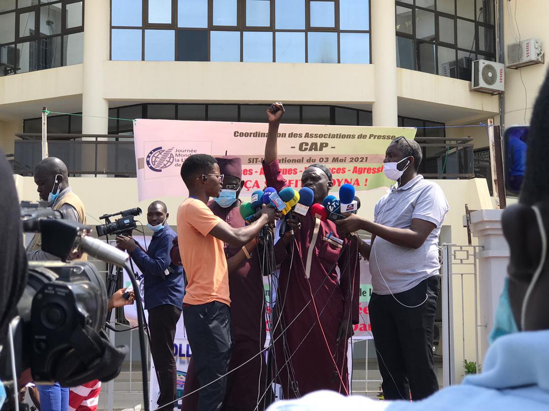 Sit In lors de la Journée mondiale de la presse au Sénégal