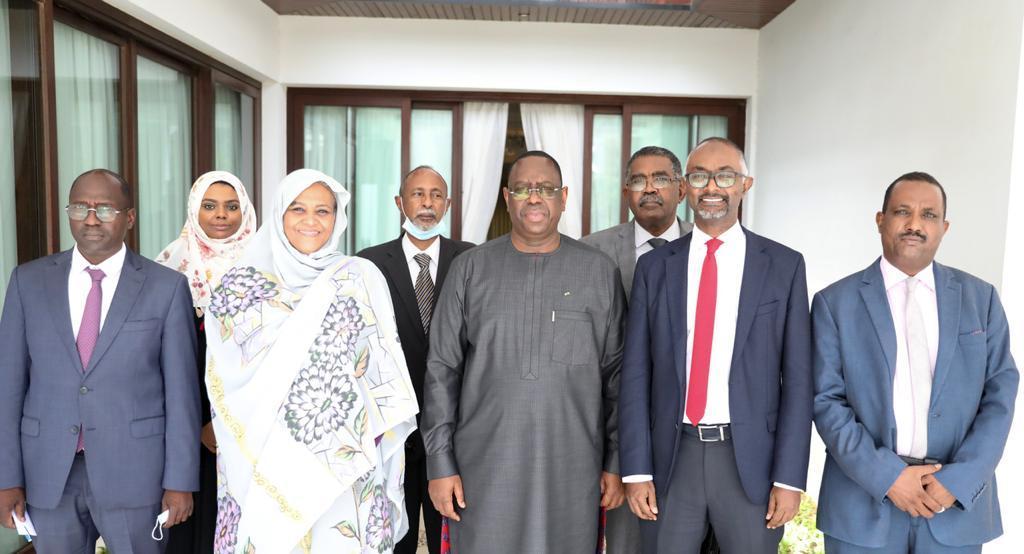 Visite de la ministre des Affaires étrangères du Soudan Mariem Al Mahdi au Sénégal