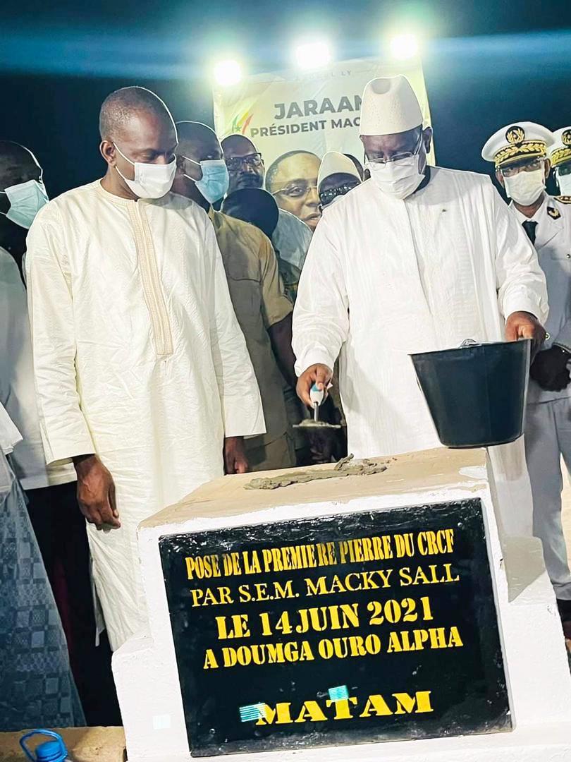 Abdoul Ly Dg de l'ARTP et Macky Sall