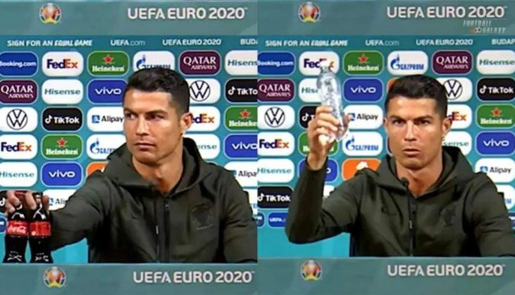 Cristiano Ronaldo fait la promotion de l'eau