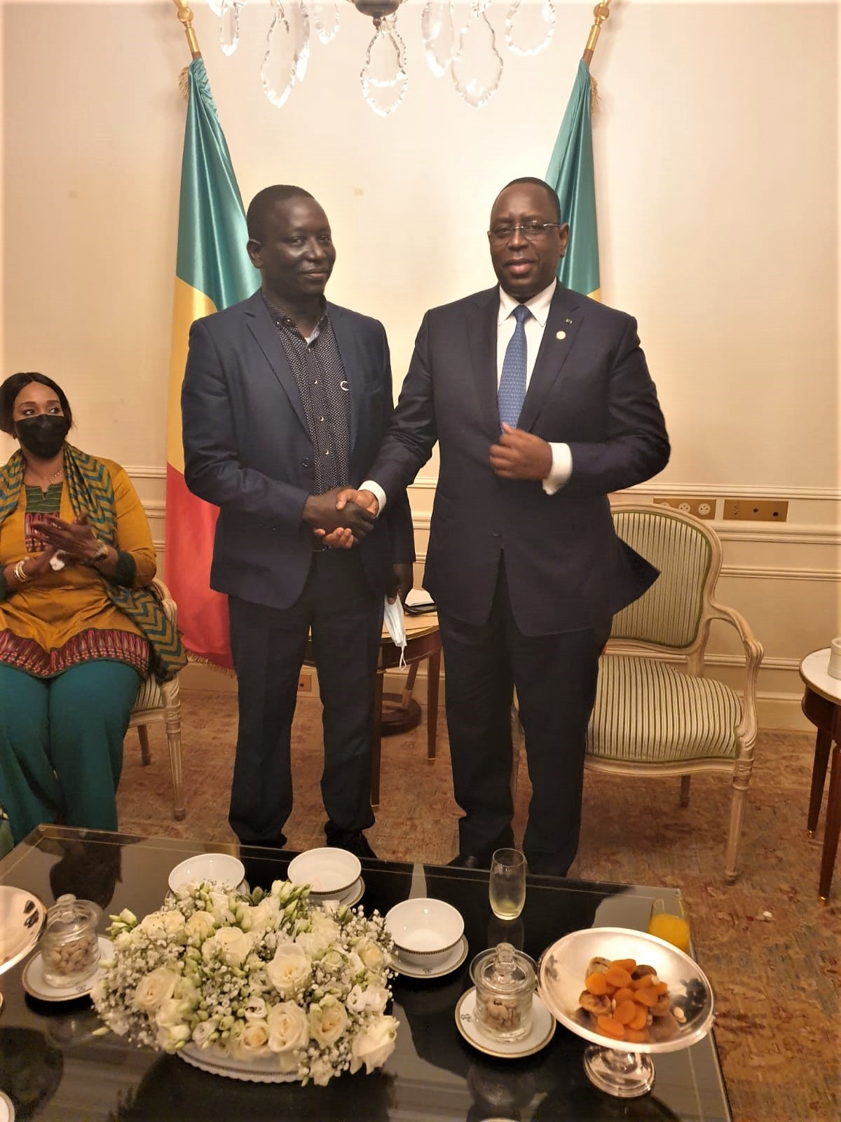 Demba Konté et le Président Macky Sall