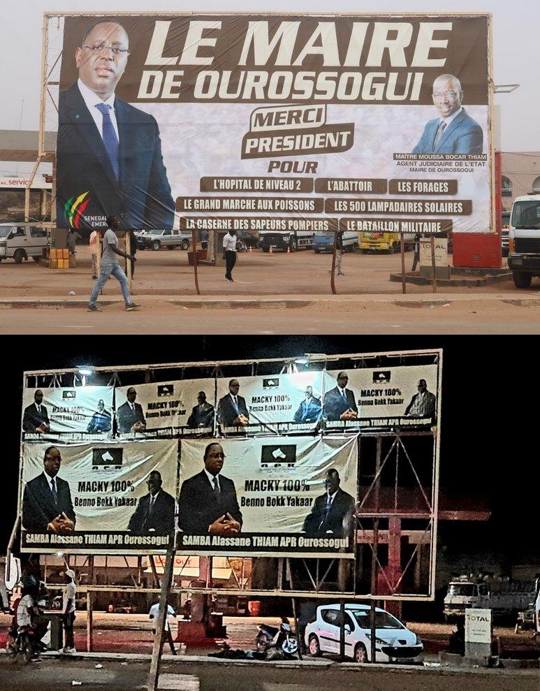 Le Maire Moussa Bocar Thiam brandi un arrêté interdisant banderoles, affiches sur les édifices, Affiche de Samba Alassane Thiam à Ourossogui, APR, Macky Sall