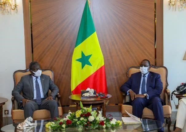 Le Président de la Commission de l'UEMOA - Abdoulaye Diop en audience avec Macky Sall