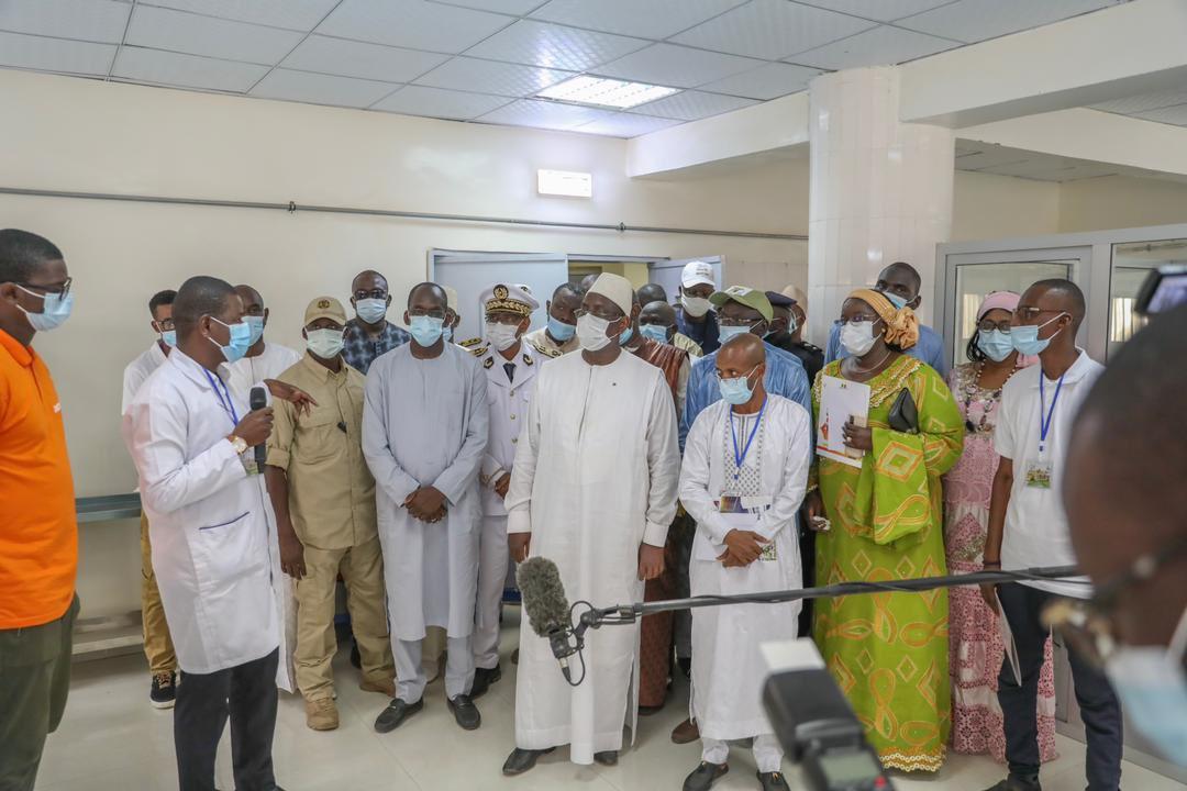 Macky Sall a inauguré l'Hôpital niveau 1 de AGNAM (2)