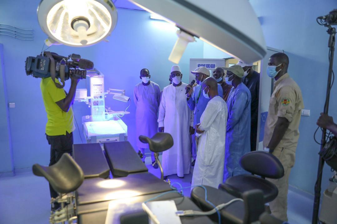 Macky Sall a inauguré l'Hôpital niveau 1 de AGNAM (3)