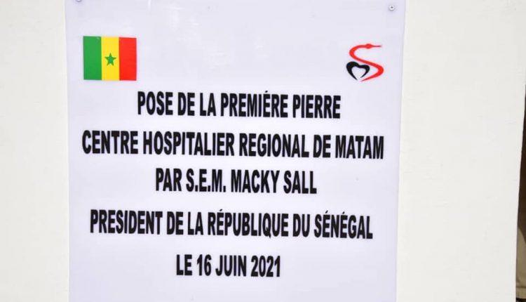 Macky Sall pose la première pierre de l'hopital régional de Matam à Ourossogui