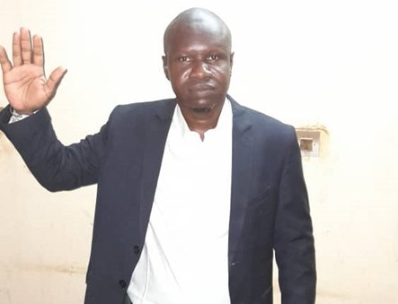 Amadou THIAM à la mairie de Madina Ndiathbé
