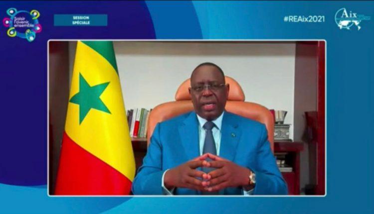 Macky Sall aux REAix 2021 alerte sur la 3e vague de Covid19