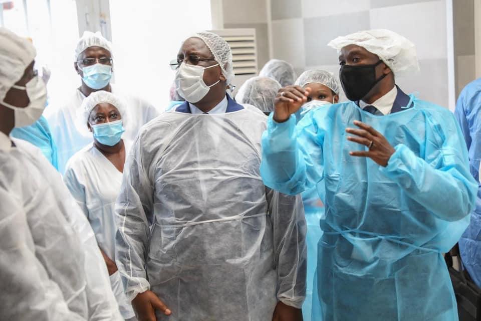Macky Sall visite dans les hôpitaux, CTE