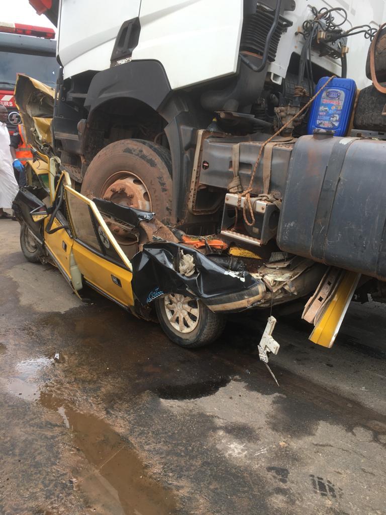 Accident sur la route de Kaolack
