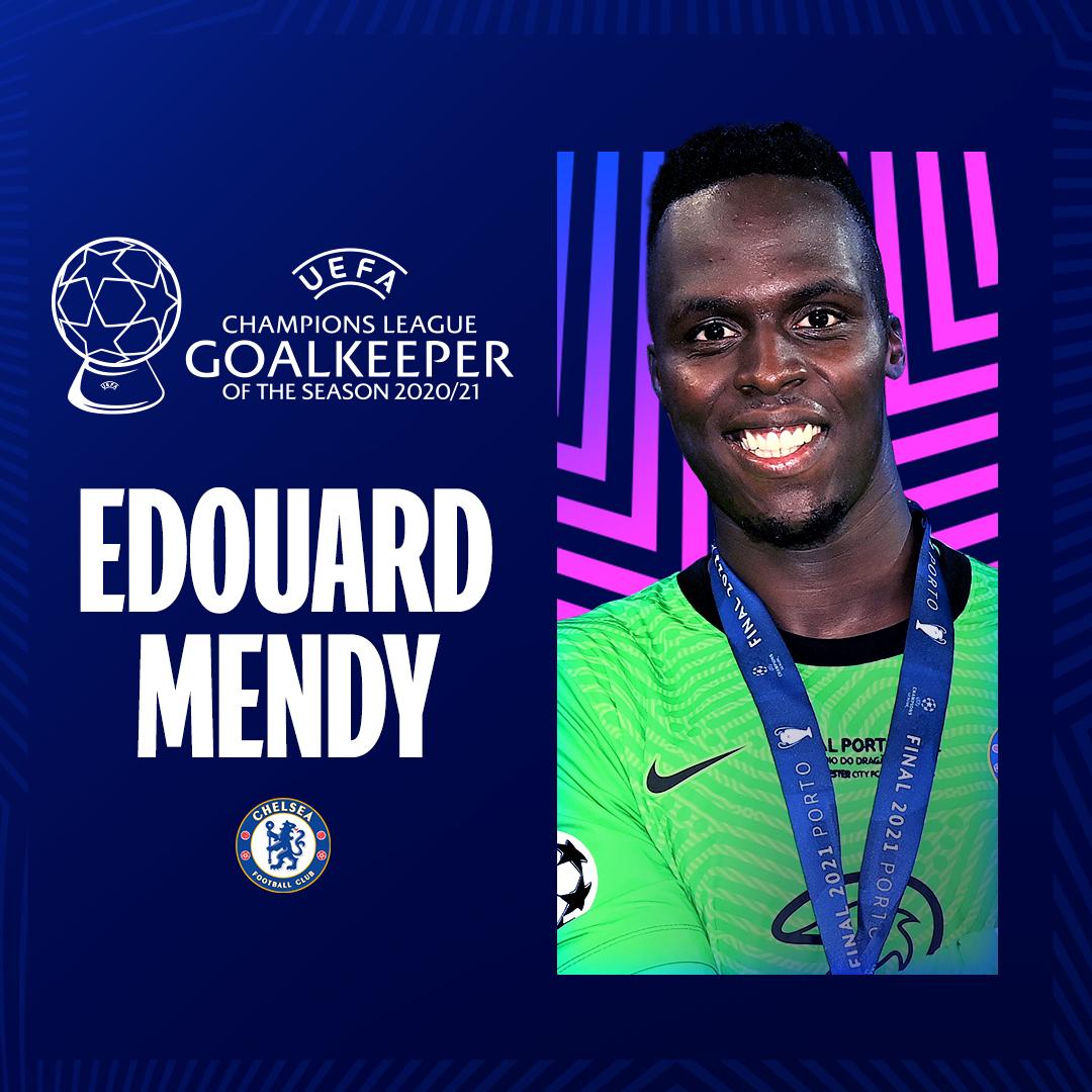 Edouard Mendy du Sénégal est élu meilleur gardien