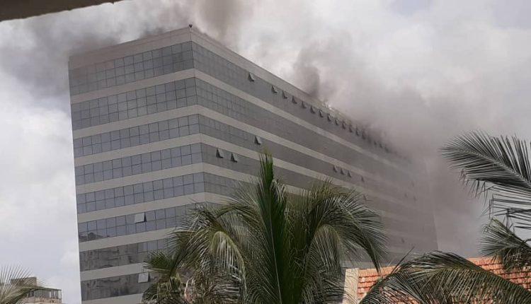 Incendie au Building administratif Mamadou Dia