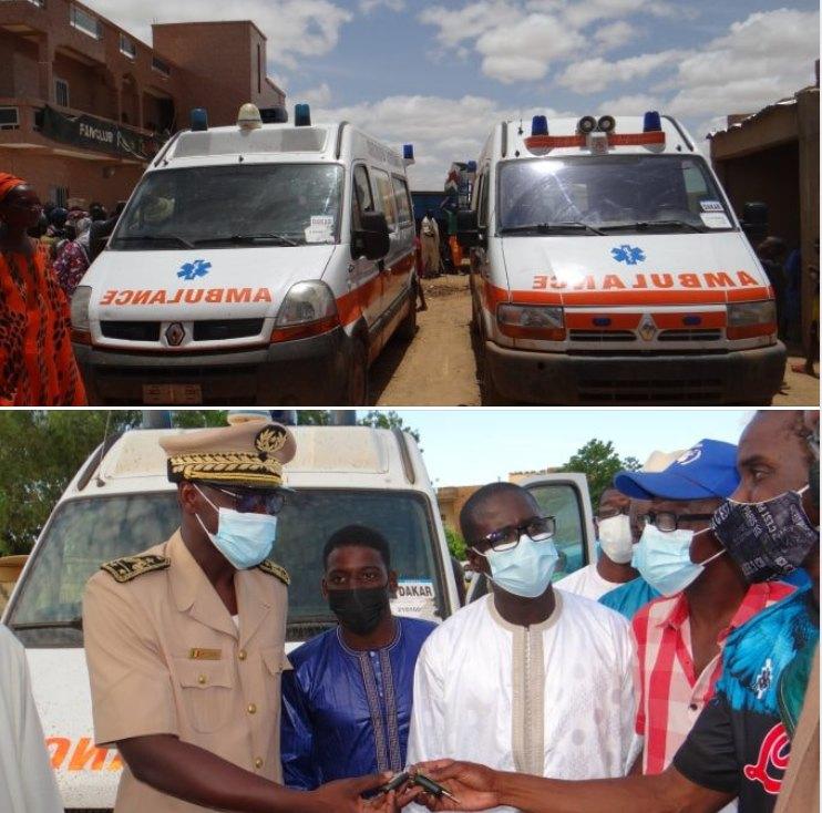 Kalidou Koulibaly offre deux ambulances médicalisées et du matériel médical au poste de santé de Ngano et à l'hôpital de Ourossogui