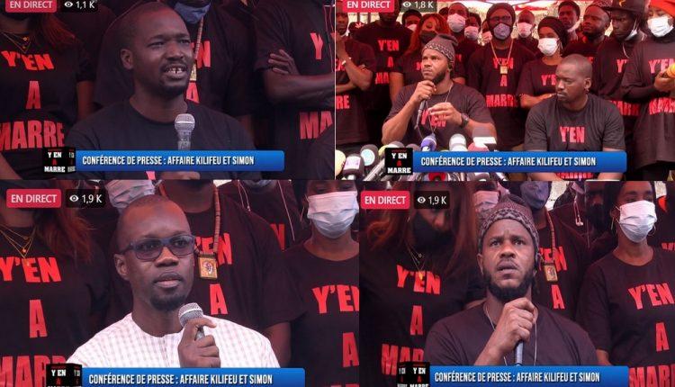 Conférence de presse Y EN A MARRE- Y EN Marristes et Ousmane Sonko tirent sur le régime de Macky Sall