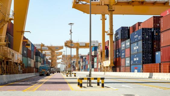 Visite Macky SALL au port de Jabel Ali à Dubaï