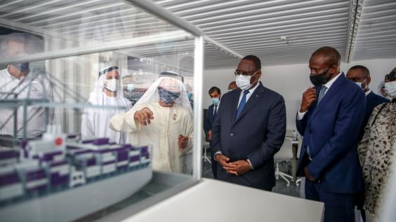Visite du PR Macky SALL du port de Jabel Ali à Dubaï